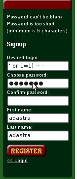 register-sqli